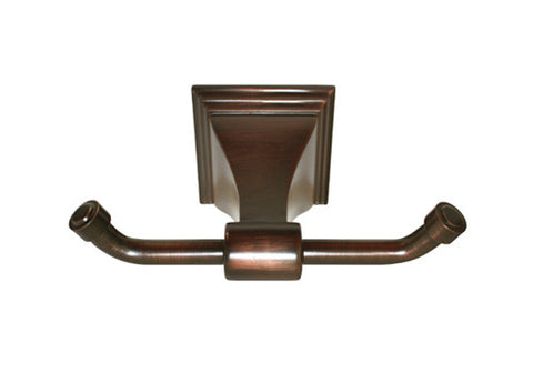 Oil Rubbed Bronze Double Robe Holder - Series BA12-ORB