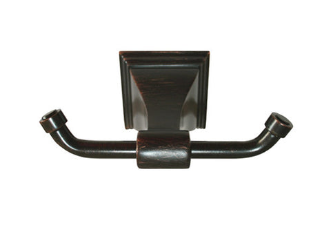 Dark Oil Rubbed Bronze Double Robe Holder - Series BA12-VBR