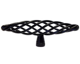 "Black Cabinet Drawer 4"" Bird Cage Knob 1338 100MM"