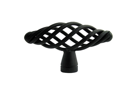 "Black Cabinet Drawer 2 3/8"" Bird Cage Knob 1338 60MM"