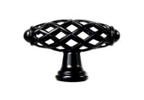 "Black Cabinet Drawer 2-1/4"" Bird Cage Knob 749 58MM"