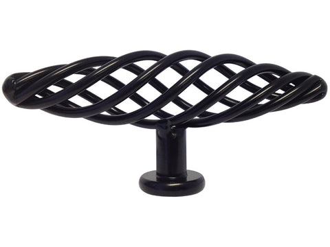 "Black Cabinet Drawer 4"" Bird Cage Knob 8045 100MM"