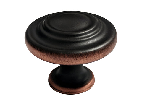 "Dark Oil Rubbed Bronze Cabinet Drawer 1-1/4"" Ring Knob 5033 32MM"