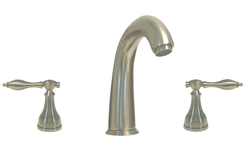 Satin Nickel Twin Handles Lavatory Sink Faucet