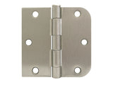 "Satin Nickel 3 1/2"" Door Hinge Square Corner x 5/8"" Radius US15"