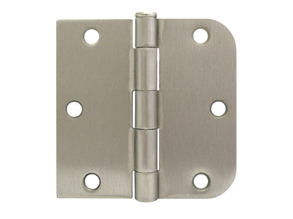 Satin Nickel 3 1 2 Quot Door Hinge Square Corner X 5 8 Quot Radius