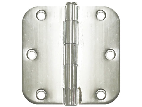 Polished Chrome 3 1/2  Door Hinges 5/8  Radius  sc 1 st  Best Knob : chrome door hinges - pezcame.com