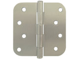 "Satin Nickel 4"" Door Hinges 5/8"" Radius US15"