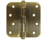 "Antique Brass 4"" Door Hinges 5/8"" Radius"
