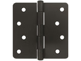 "Oil Rubbed Bronze 4"" Door Hinges 1/4"" Radius US10B"