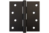 "Oil Rubbed Bronze 4"" Door Hinges Square Corner US10B"