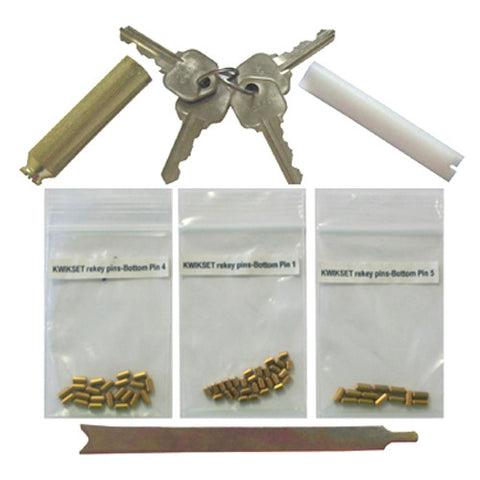 Kwikset Rekey Kit Set 4 Keys 8 Locks With 5 Pins