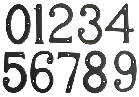 "Oil Rubbed Bronze 3"" House Number"