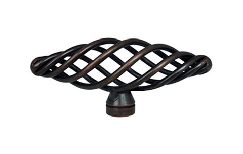 "Oil Rubbed Bronze Cabinet Drawer 3"" Bird Cage Knob 1338 76MM"