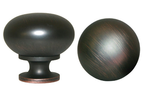 "Oil Rubbed Bronze Cabinet Drawer 1-1/4"" Round Knob 802 32MM"
