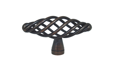 "Oil Rubbed Bronze Cabinet Drawer 2 3/8"" Bird Cage Knob 1338 60MM"