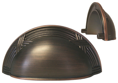 Oil Rubbed Bronze Cabinet Drawer 3 Quot Machined Cup Pull 8858
