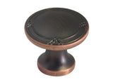 "Oil Rubbed Bronze Cabinet Drawer 1-1/4"" Ribbon & Reed Round Knob 8863 33MM"