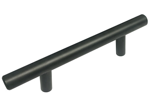 "Black Stainless Steel Cabinet Drawer 3 3/4"" Bar Pull BK-3948 96MM"
