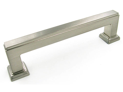 "Satin Nickel 5"" Square Bar Kitchen Cabinet Pull 5071 128MM"