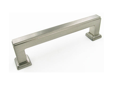 "Satin Nickel 3 3/4"" Square Bar Kitchen Cabinet Pull 5071 96MM"