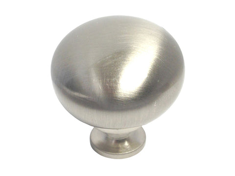 "Satin Nickel Cabinet Drawer 1-1/4"" Round Knob 802 32MM"