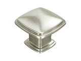 "Satin Nickel Cabinet Drawer 1-1/4"" Square Knob 81091 31MM"