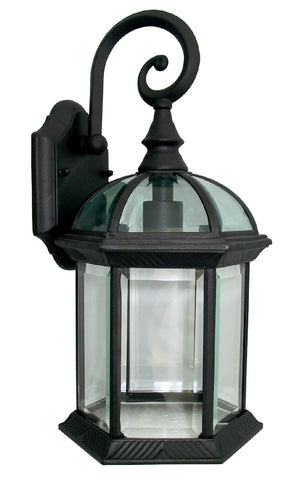Outdoor Lighting Fixture Wall Sconc Black Finish WD