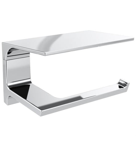 "Delta Pivotal Collection 7"" Tissue Holder with Shelf Polished Chrome"