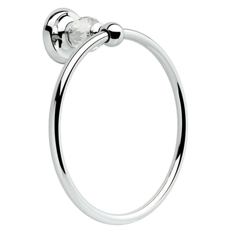 Delta Nora Polished Chrome Finish and Crystal Towel Ring