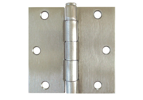Satin Nickel 3 1 2 Quot Door Hinges Square Corner Us15 Cheap