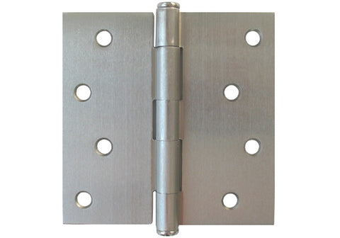 "Satin Nickel 4"" Door Hinges Square Corner US15"