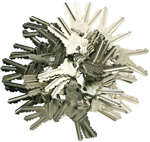 Schlage Precut 5 Pin Keys SC1 200 Pieces 50 sets of 4