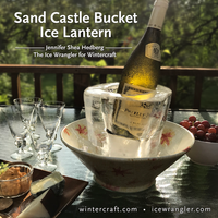 Sand Castle Bucket Ice Lantern