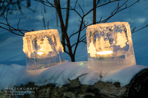 2018 Middlemoon Creekwalk Ice Lanterns by Mary Arneson photo by Bob Hays