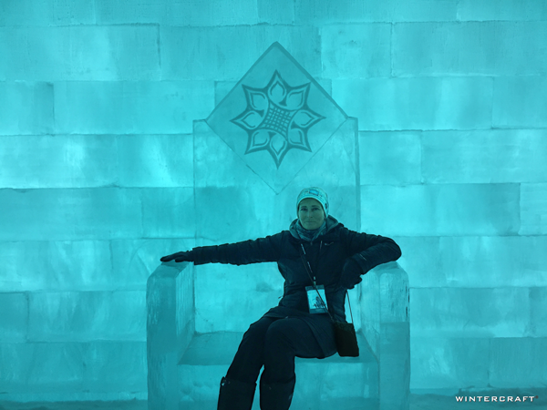 At the end of the Great Hall is a giant ice throne which is probably the most photographed section of the hotel.