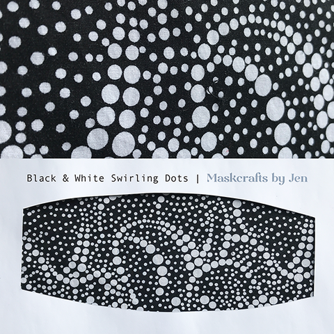 Black and White swirling dots