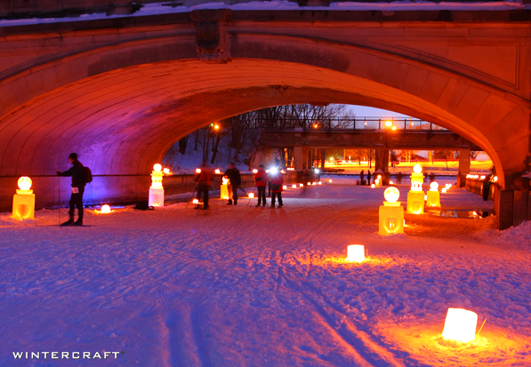 Under the Bridge Luminary Loppet 2009 Wintercraft photo by Bruce Challgren