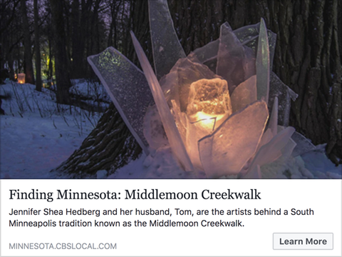 CBS interviews Ice Wrangler and husband (Tom & Jen) about Middlemoon Creekwalk