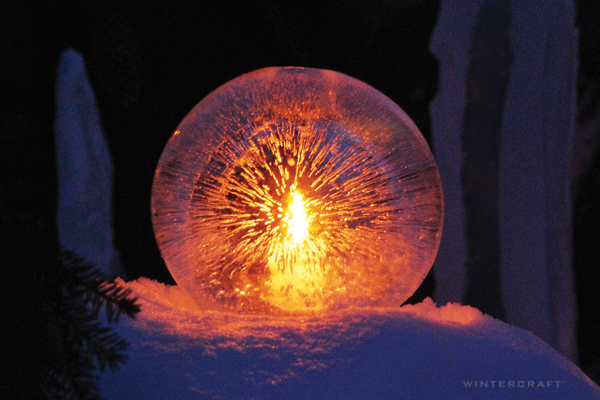 Light Up A Globe Ice Lantern With Led Lights Wintercraft