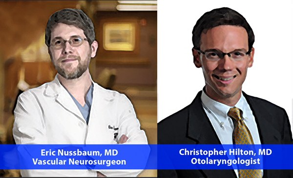 Dr. Eric Nussbaum and Dr. Christopher Hilton surgical team