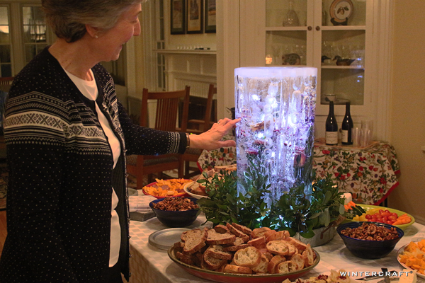 "Wintercraft ""Finnish Glass"" Ice Lantern Centerpiece by Jennifer Shea Hedberg, The Ice Wrangler"