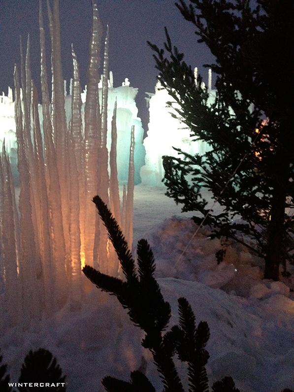 Wintercraft Winter Landscaping at the Ice Castles at Mall of America with Icicle Castle Luminary