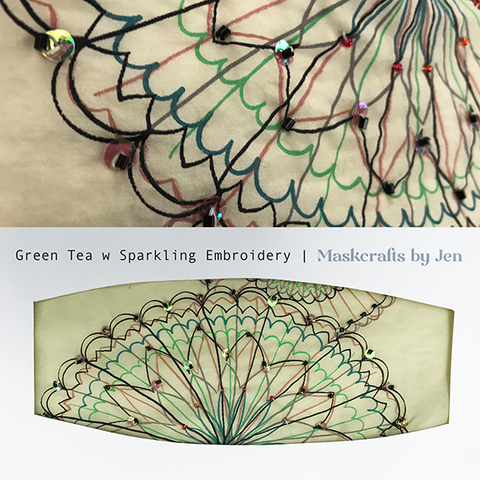 Green Tea with Sparkling Emboidery