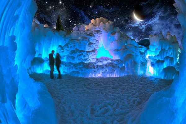 Ice Castle on Valentine's Day 2020