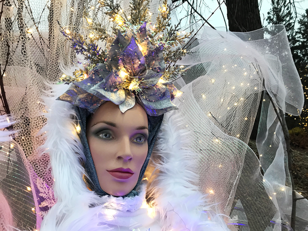 The Ice Queen for the new drive-thru Winter Lights event for 2020