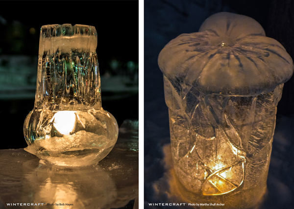 Textured Bucket Ice Lanterns by Wintercraft Ice Wrangler Middlemoon Creekwalk