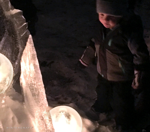 Wonder of a child at 2019 Enchanted Forest luminary loppet