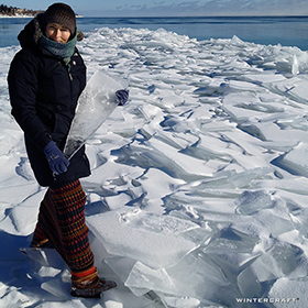 Natural Ice Glass on Lake Superior - Jennifer Shea Hedberg Wintercraft