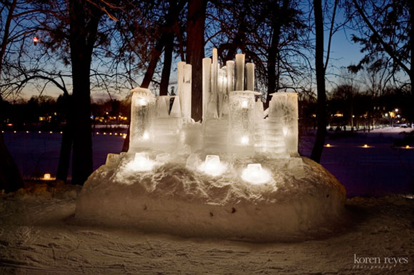 Kathy Loeffler's Ice Castle photo by Koren Reyes